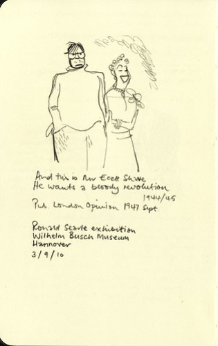 Exhibition sketchbook: Ronald Searle - And this is Mr Eccle Shave. He wants a bloody revolution.