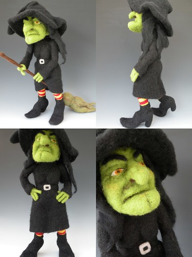 Needle Felted Witch Doll