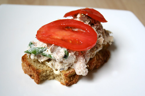 Open-Face Chicken Salad Sandwich