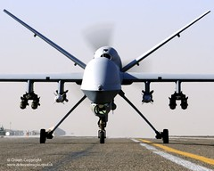 Reaper UAV Taxis at Kandahar Airfield