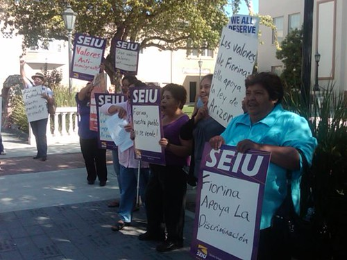 SEIU counter-protesters in Hollister