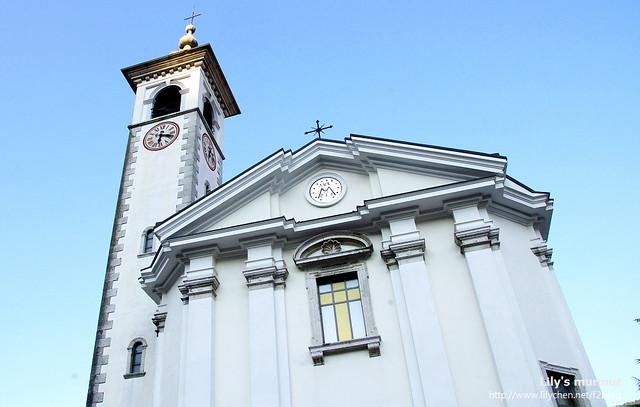 """鎮上的唯一的教堂""""Assumption of Marry"""",也是古蹟之一,建於15世紀,西元1430年"""