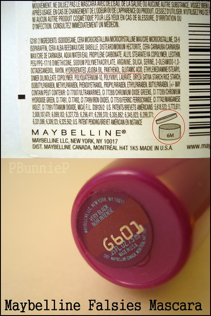 Maybelline Flasies Mascara Ingredients