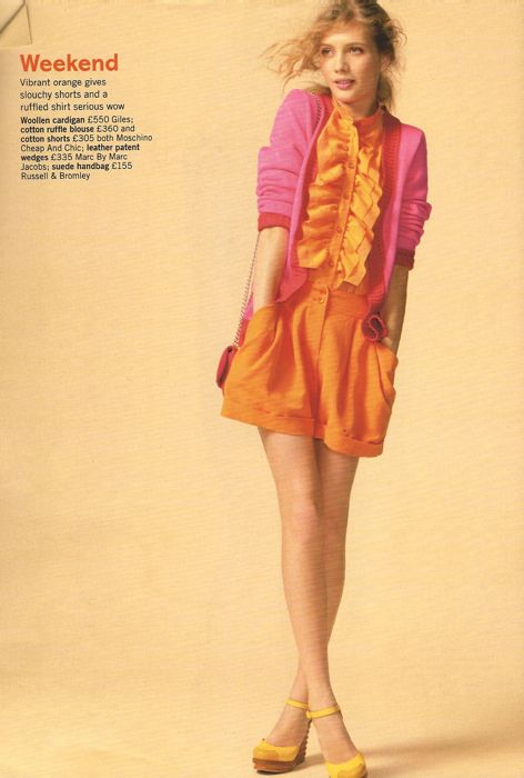 Glamour March 2011 Pop your colour editorial
