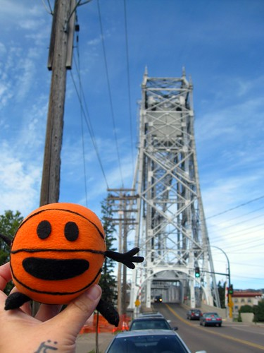 bally visits the lift bridge