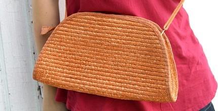 Handbag Pumpkin Woven1