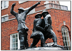 Monument, homage to the firemen who died in th...