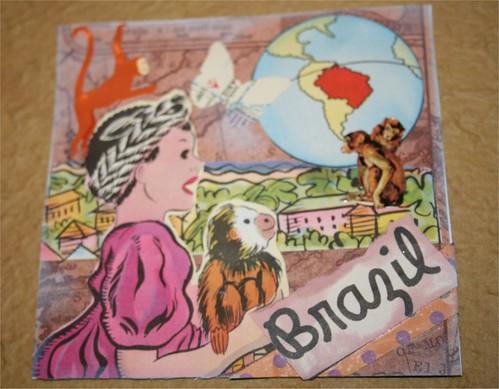 "Brazilian child 4"" x 4"" Collage"