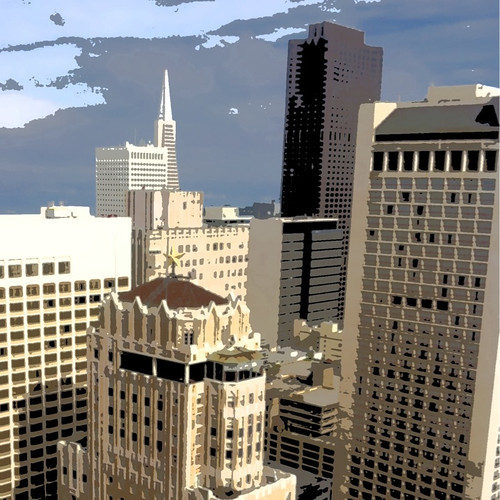 San Francisco - Stylized - by Scott Loftesness