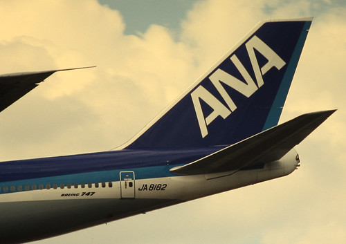 All Nippon Airways (ANA) Boeing 747-200 tail section