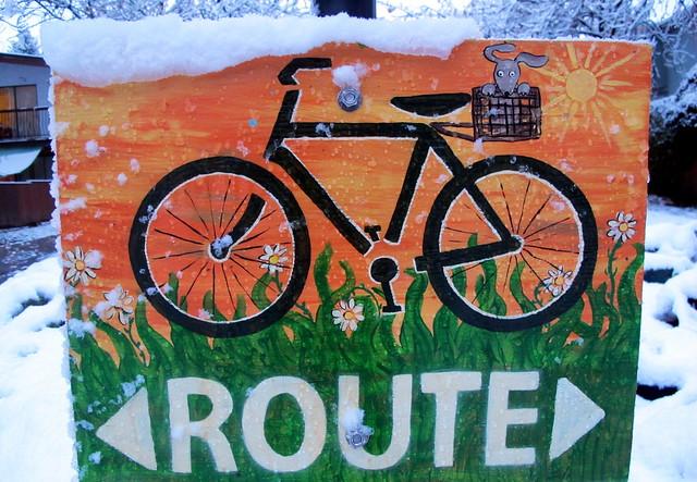 Bike Route Snowed In