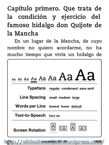 El Quijote - Tamaño de letra 4
