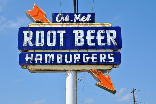 Cre Mel Root Beer Vintage Sign
