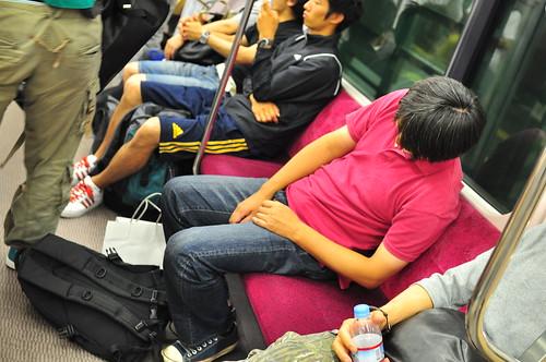 Sleeping in Japan