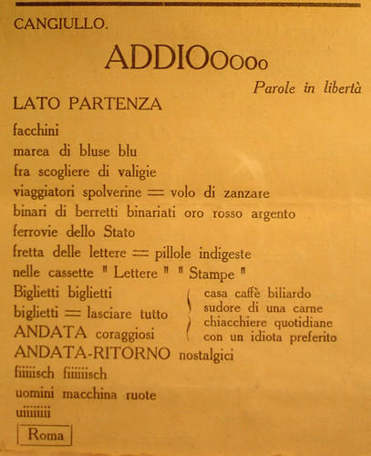 Poesia futurista Firenze