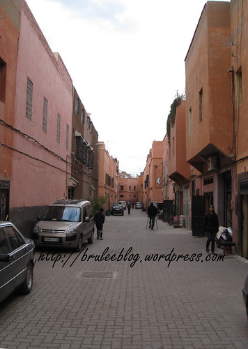 Marrakech medina, just outside of Riad Elizabeth