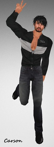 MHOH4 # 118 - Emerald Forest - Simple Designs Grey and Black Zip Shirt and Jeans