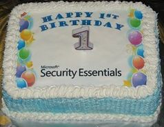 Microsoft Security Essentials: First anniversary cake