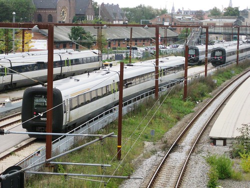 Trains at Copenhagen Osterport Station 27sept10-1
