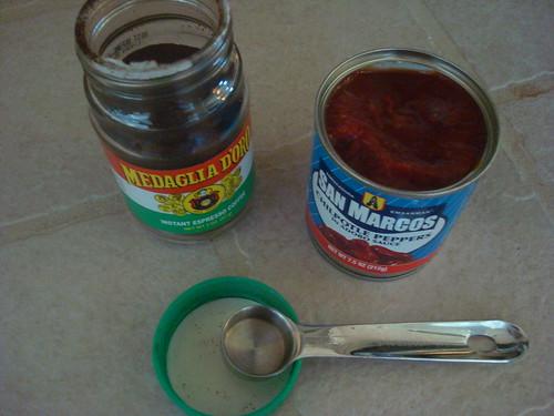 espresso powder and adobo sauce