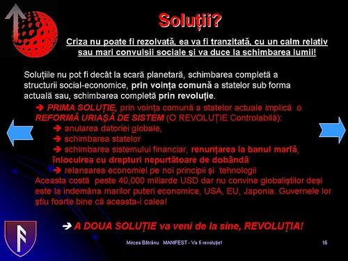 Solutiile crizei mondiale