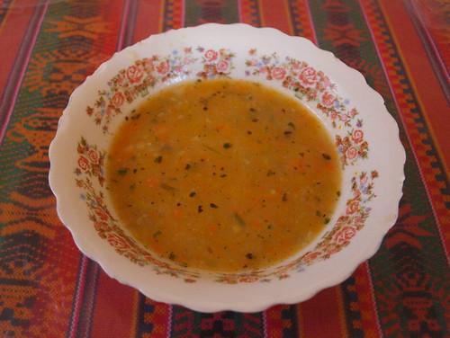 Argentina: sopa de choclo y verdura