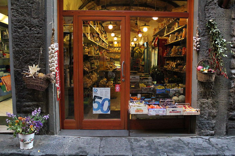 A shop in Florence city centre