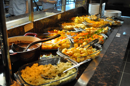 Hot buffet selection