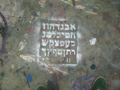 hebrew alphabet stencil