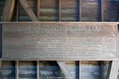 Kennedy Covered Bridge 001 (Sign)