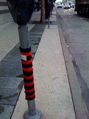 Knitting graffiti on 3rd Street