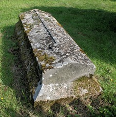 ancient tomb in cemetery grounds