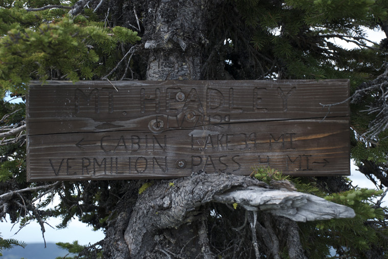 Signage at the site of the old lookout