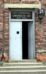 Auschwitz - door to surgical ward