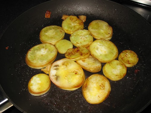 Cooking eggplants