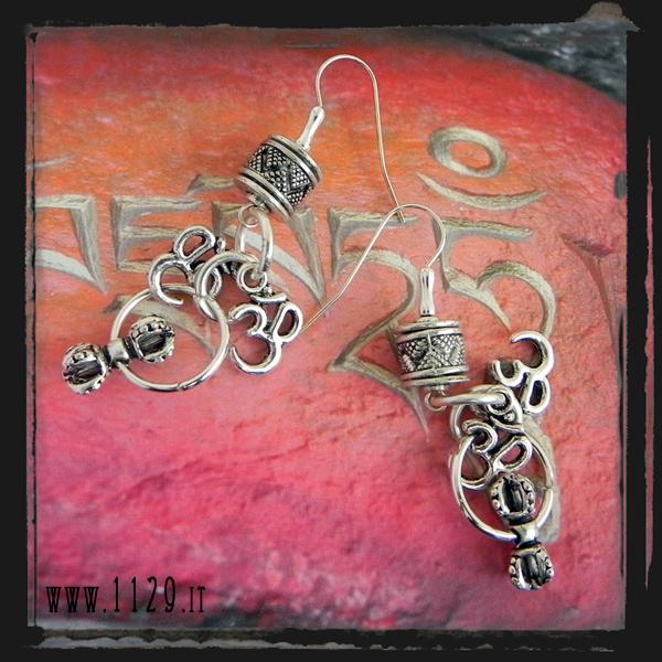 LIAUM orecchini argentati - free tibet silver earrings-1129