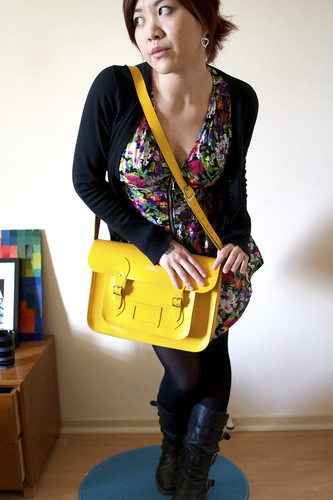 Outfit! and Yellow Cambridge Satchel