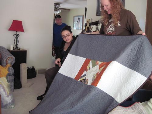 Back of Karrie's string quilt