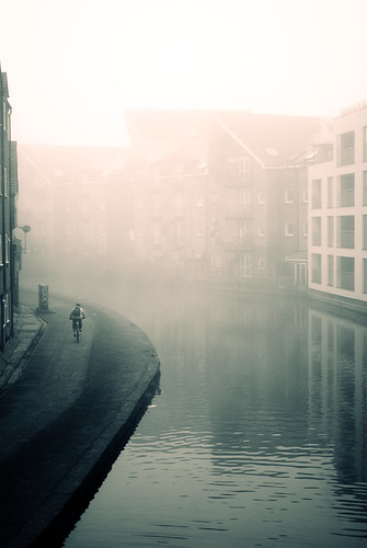 Fog over London's Grand Union Canal