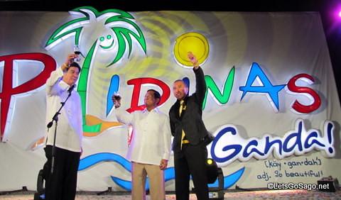 A toast to Pilipinas Kay Ganda with Sec Bertie Lim, VP Binay, USec Vicente Romano III