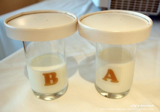 猜猜看,哪一杯是瑞穗極制鮮乳?其實拿到燈光下看就知道了,但嘗過就會知道瑞穗極制鮮乳的與眾不同。