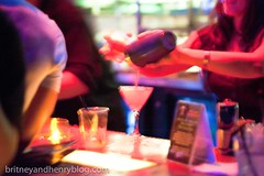Making Ambrosia's specialty - Martinis