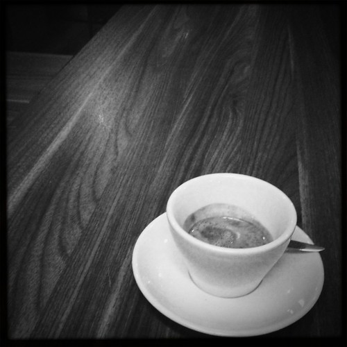 Espresso from the third floor on the first floor