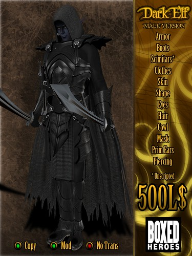 Dark Elf Male Avatar Vendor