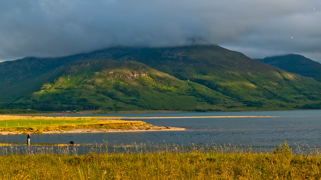 Evening light from Killiechronan campsite