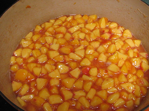 Peaches macerating