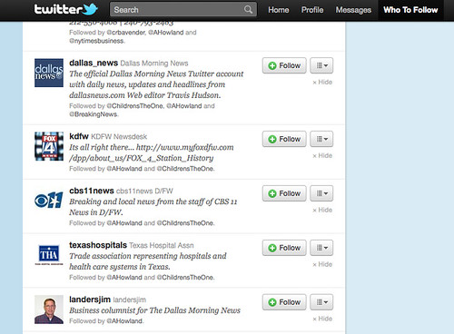 Twitter: Who to Follow 01.27.11