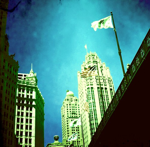 Looking up at the Chicago Tribune