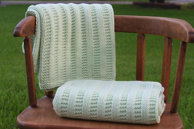 Garter Ridge Comfort blanket