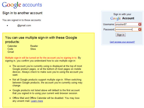 change default google account in browser